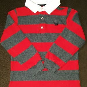 EUC Carter's Long Sleeve Polo Shirt